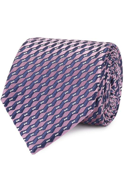 Шелковый галстук с узором Ermenegildo Zegna Z9E061L8