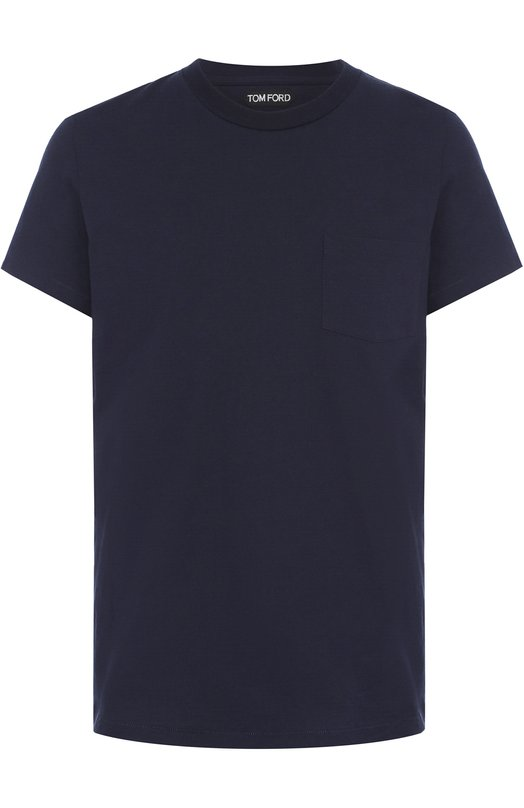 Купить Хлопковая футболка с круглым вырезом Tom Ford, BM402TFJ888, Италия, Темно-синий, Хлопок: 100%;
