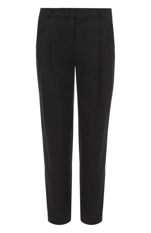 Шерстяные брюки прямого кроя Saint Laurent 468679/Y173Q