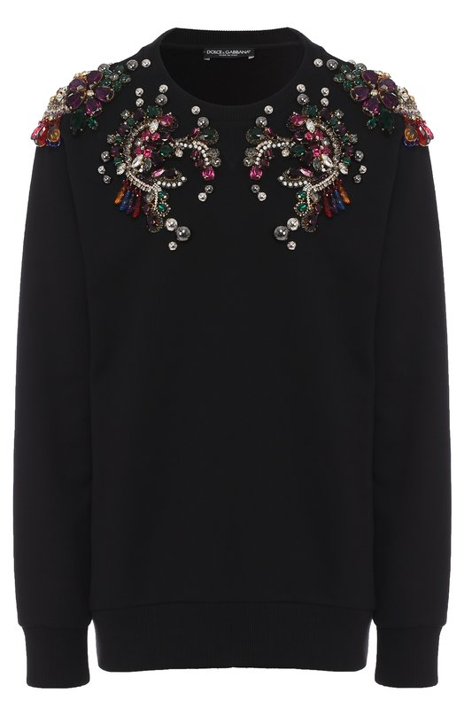 Пуловер с круглым вырезом и декоративной отделкой Dolce & Gabbana 0102/F9880Z/G7KBP