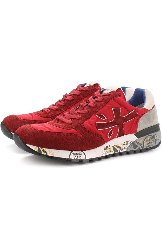 Комбинированные кроссовки на подошве с принтом Premiata MICK/VAR2191