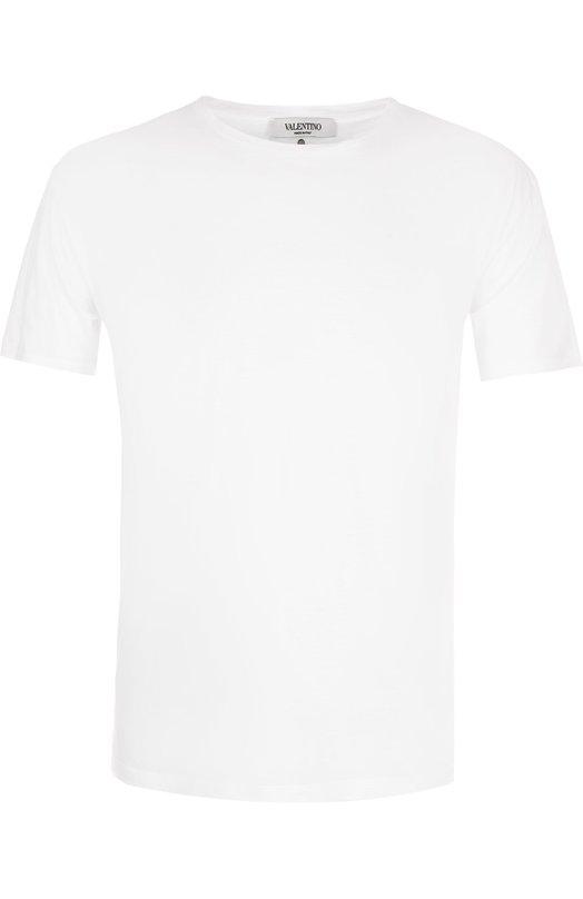 Купить Хлопковая футболка с круглым вырезом Valentino, NV3MG06G/3MH, Италия, Белый, Хлопок: 100%;