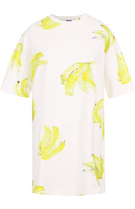 Платье-футболка прямого кроя с принтом MSGM 2242MDA185/174375