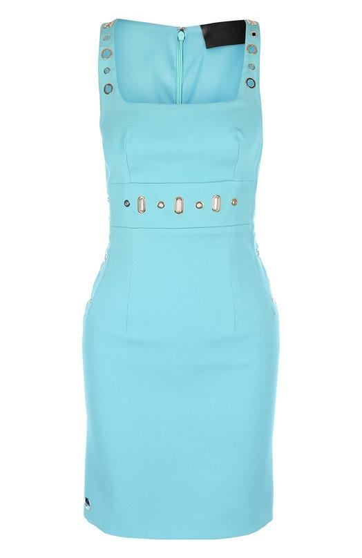 Облегающее мини-платье с квадратным вырезом Philipp Plein P17C WRG0098 PTE007N