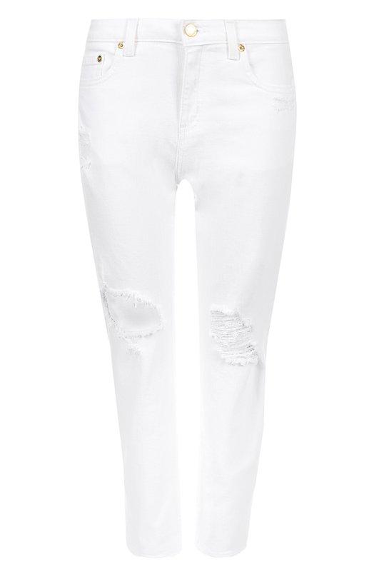 Укороченные джинсы с потертостями MICHAEL Michael Kors MICHAEL Michael Kors