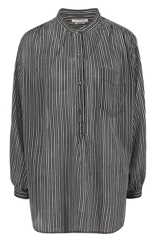 Блуза прямого кроя в полоску с воротником-стойкой Isabel Marant Etoile HT0915-17P018E/JANA