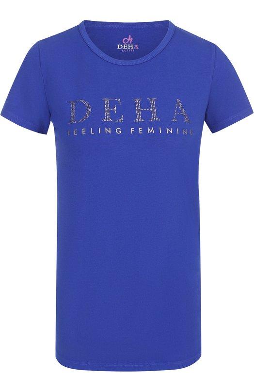 Спортивная футболка с контрастной отделкой Deha B52720