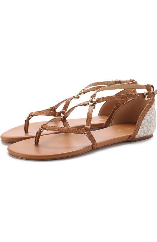 Кожаные сандалии Terri с принтом MICHAEL Michael Kors 40S7TEFA1B