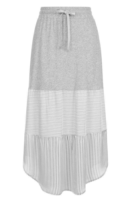 Хлопковая юбка-миди с эластичным поясом Deha D53416