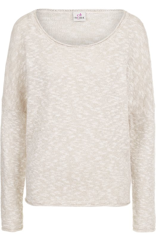 Пуловер свободного кроя с круглым вырезом Deha B54246