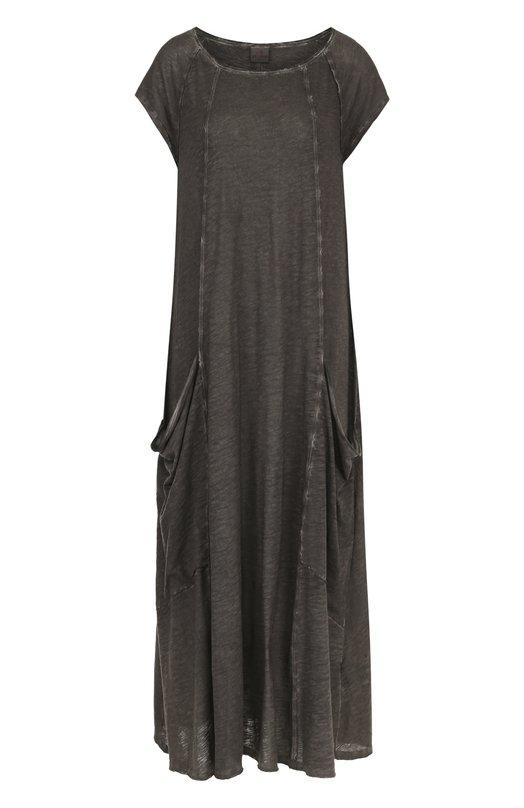 Платье-макси свободного кроя с накладными карманами Deha B54368