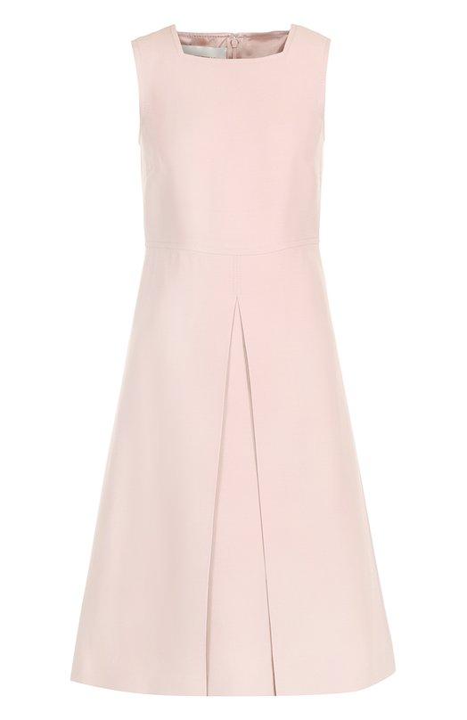 Купить Приталенное платье-миди со складкой Valentino, NB2VADH5/1CF, Италия, Светло-розовый, Шерсть: 65%; Шелк: 35%; Подкладка-шелк: 100%;