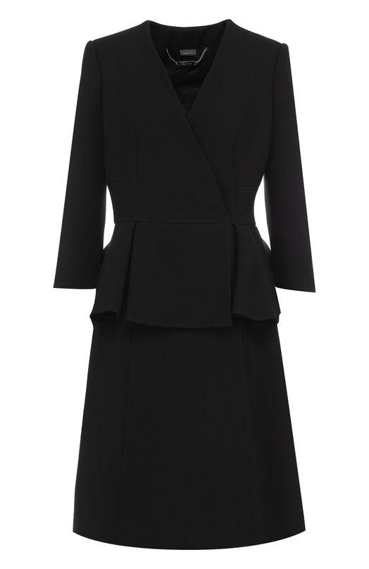 Пальто с укороченным рукавом и баской Alexander McQueen 459487/QIJ07