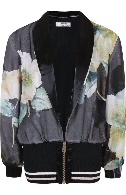 Шелковый жакет с цветочным принтом Lanvin RW-JA7116-3597-E17