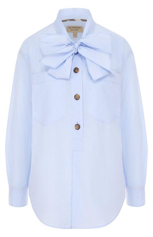 Купить Хлопковая блуза с воротником аскот Burberry Китай 5155502 4048611