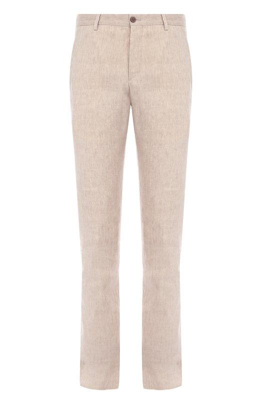 Льняные брюки прямого кроя Giorgio Armani VSP040/VS512