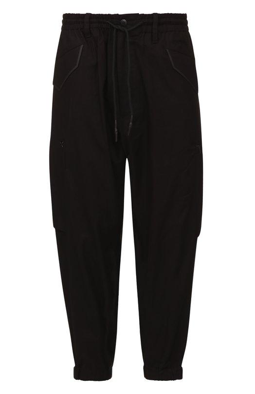Укороченные хлопковые брюки свободного кроя с заниженной линией шага Y-3 BS3540