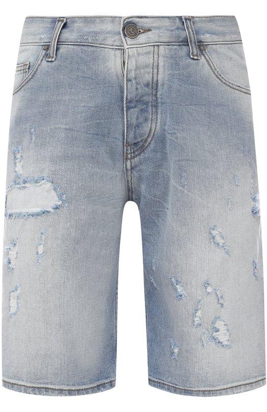 Джинсовые шорты свободного кроя с потертостями Armani Jeans 3Y6S26/6D2JZ
