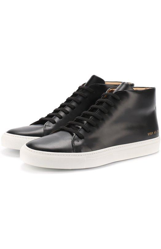 Купить Высокие кожаные кеды на шнуровке Common Projects Италия 5163798 5151