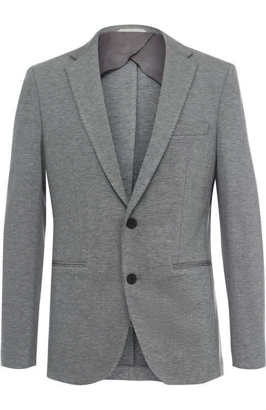 Однобортный пиджак из вискозы BOSS 50332737