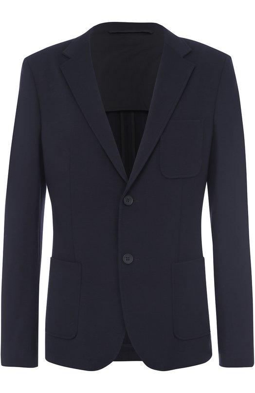 однобортный пиджак из вискозы Dirk Bikkembergs C304BH1E4264