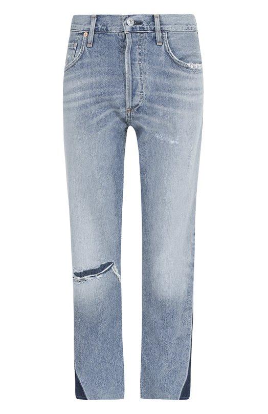 Укороченные джинсы прямого кроя с потертостями Citizens Of Humanity Citizens Of Humanity