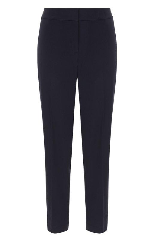 Купить Укороченные брюки прямого кроя со стрелками St. John, K84KW10, Китай, Темно-синий, Полиэстер: 97%; Эластан: 3%;