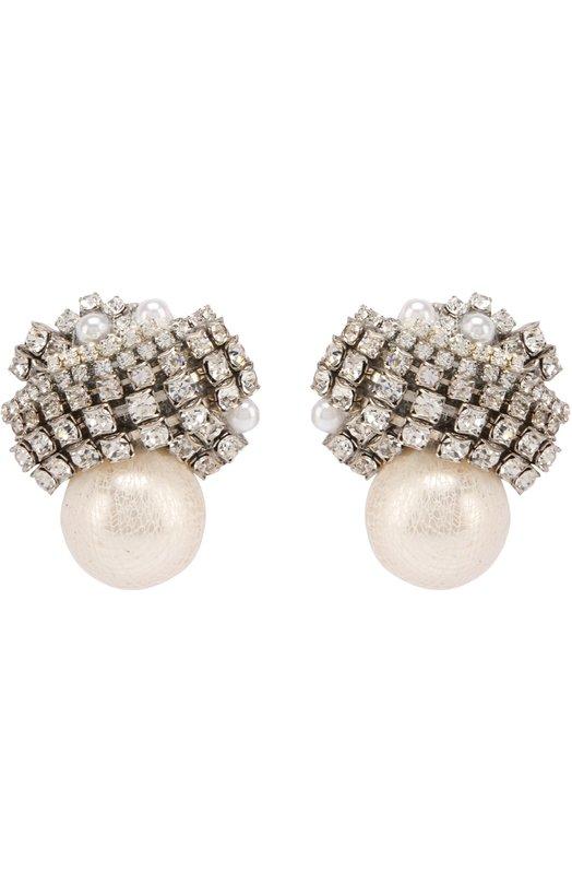 Купить Серьги с жемчужинами и кристаллами Erickson Beamon США 5136445 F6TFER14