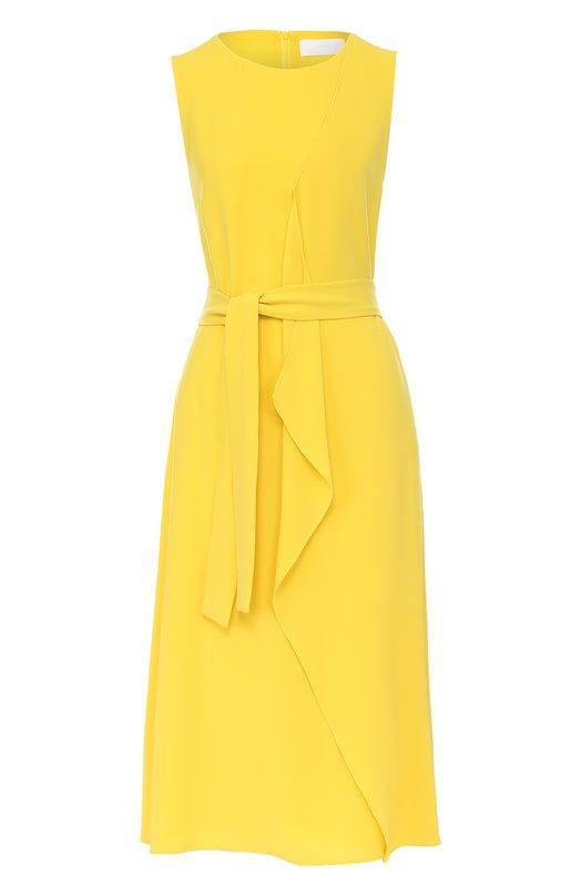 Приталенное платье с поясом HUGO 50369917