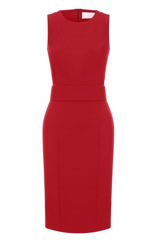 Приталенное платье-миди с поясом HUGO 50368904