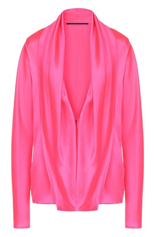 Шелковая блуза свободного кроя с глубоким V-образным вырезом Haider Ackermann Италия 5168885 173/2004/125  - купить со скидкой