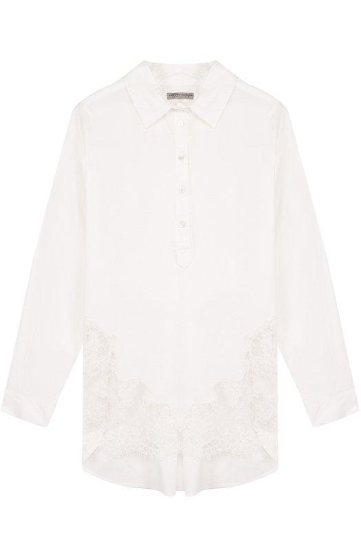 Блуза свободного кроя с кружевными вставками Ermanno Scervino 40I/CM10/10-14