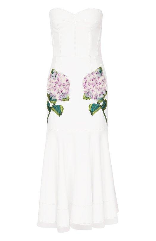 Приталенное платье-бюстье с фактурной отделкой Dolce & Gabbana Италия 5170679 0102/F65C8Z/FURDV  - купить со скидкой