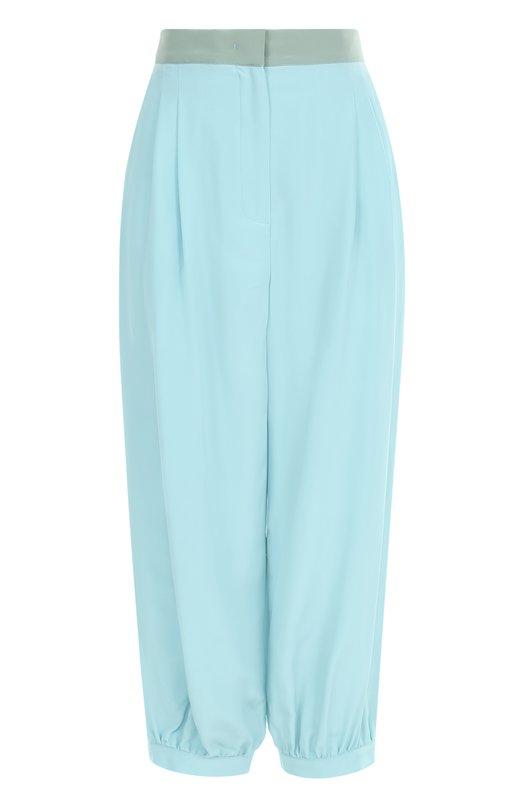 Шелковые укороченные брюки с защипами Fendi FR6077/02R