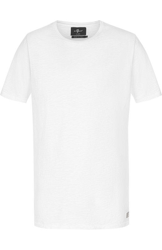 Хлопковая футболка с круглым вырезом 7 For All Mankind S5M2380WI