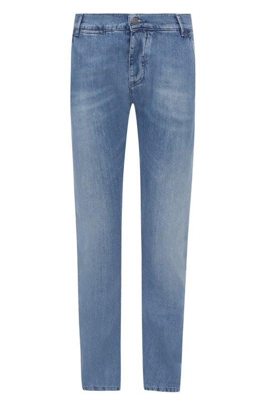 Джинсы прямого кроя с потертостями 2 Men Jeans CHIN0/NA0M7