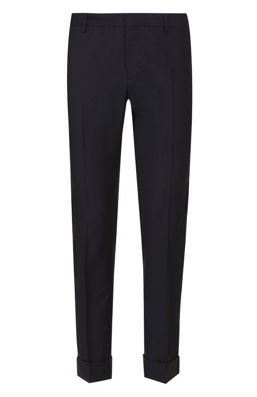 Шерстяные укороченные брюки прямого кроя Valentino NV3RB540/25S