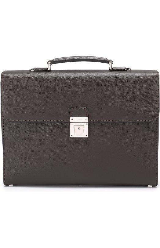 Кожаный портфель с плечевым ремнем Serapian SEV0EMLL5877M40C