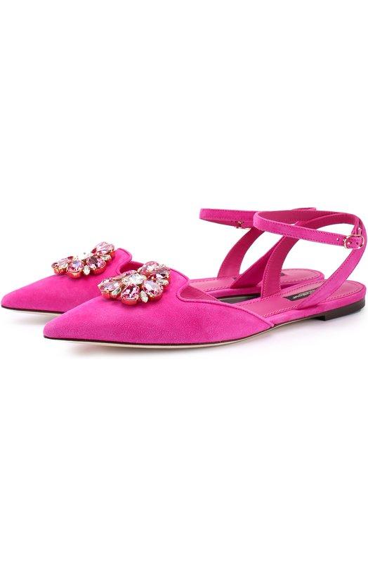 Замшевые балетки Bellucci с брошью Dolce & Gabbana 0112/CP0068/A1275