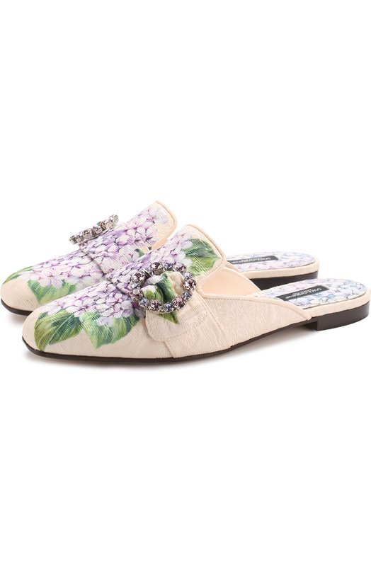 Парчовые сабо с цветочным принтом Dolce & Gabbana 0112/CI0004/AM280
