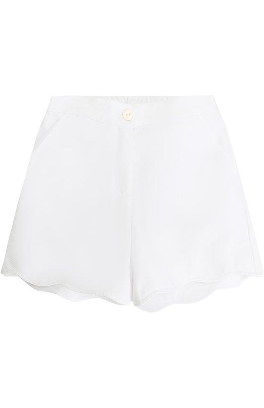 Хлопковые шорты с фигурной отделкой Oscar de la Renta 02C430
