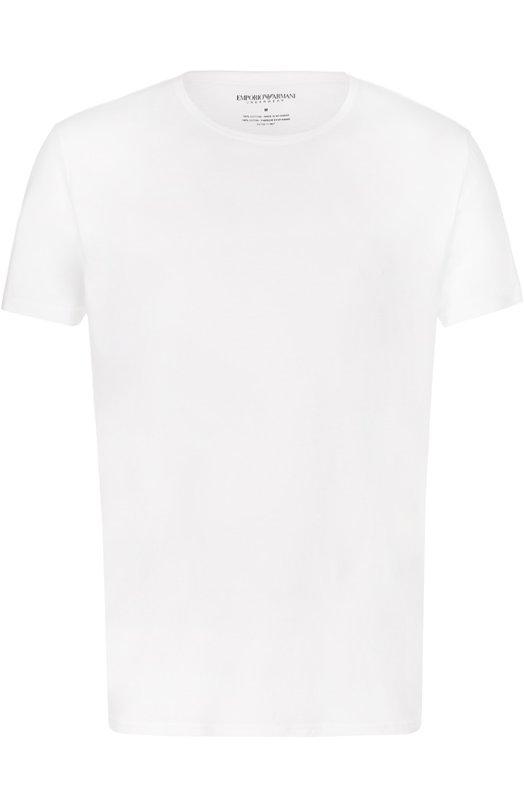 Купить Комплект из двух хлопковых футболок с круглым вырезом Emporio Armani, 111647/CC722, Мьянма, Белый, Хлопок: 100%;