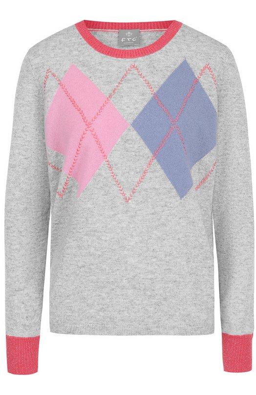 Купить Кашемировый пуловер с круглым вырезом FTC, 670-0420, Китай, Серый, Кашемир: 100%;
