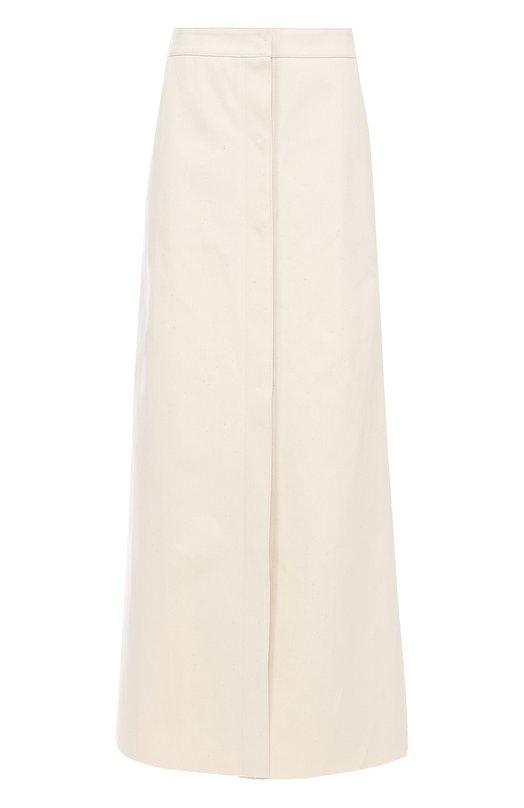 Купить Хлопковая юбка-макси А-силуэта Walk of Shame, SK008, Россия, Бежевый, Хлопок: 100%;