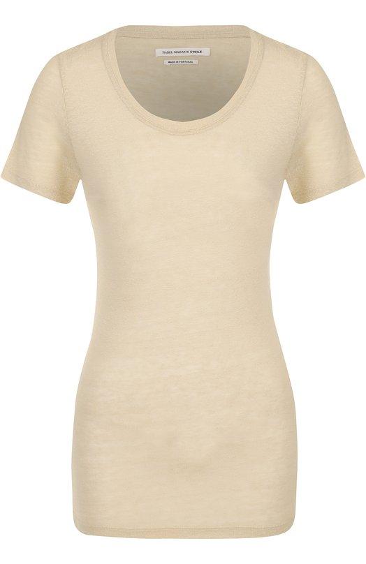 Шелковая приталенная футболка Isabel Marant Etoile TS0342-17P030E/VASSILI