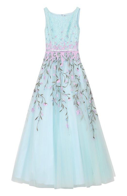 Приталенное платье-макси с вышивкой Basix Black Label Китай 5161460 D8000L  - купить со скидкой