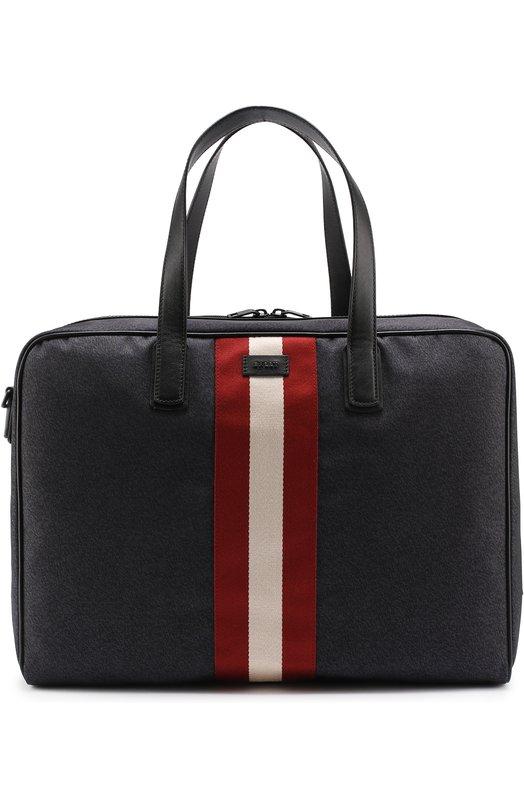 Дорожная сумка с отделкой из натуральной кожи Bally KEEN