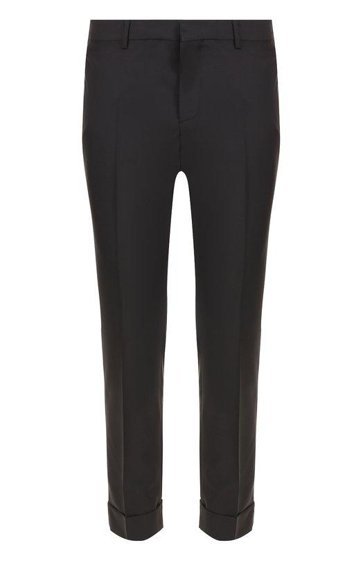 Шерстяные укороченные брюки прямого кроя Valentino