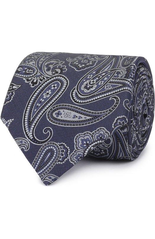 Шелковый галстук с узором пейсли Brioni 062I/0640G