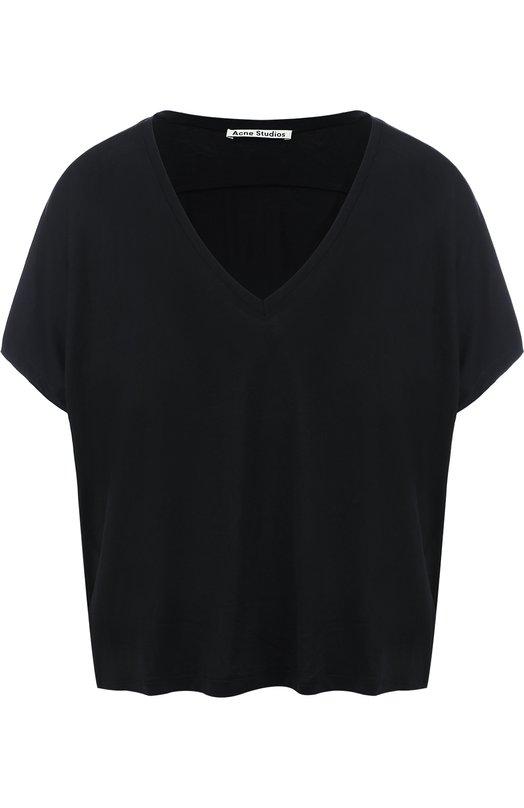 Укороченная футболка свободного кроя Acne Studios 15B164